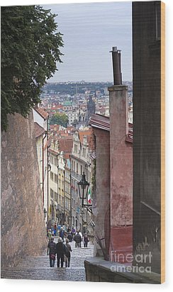 Prague Wood Print by Andre Goncalves