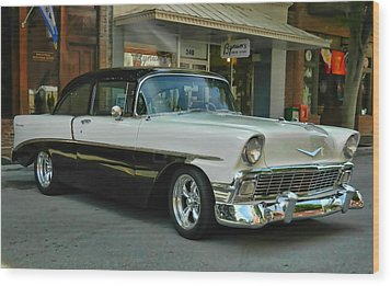 '56 Chevy Hot Rod Wood Print by Victor Montgomery