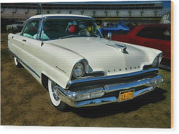 '56 Lincoln Wood Print by Victor Montgomery