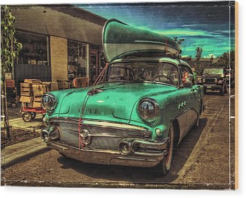57 Buick - Just Coolin' It Wood Print