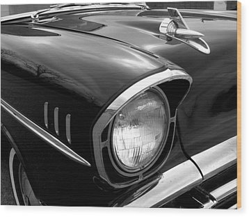 57 Chevy 2 Wood Print by Audrey Venute