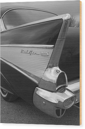 57 Chevy Wood Print by Audrey Venute