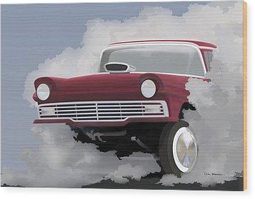 57 Ford Gasser Wood Print by Colin Tresadern