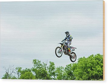 Wood Print featuring the photograph 573 Flying High At White Knuckle Ranch by David Morefield
