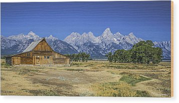 #5730 - Mormon Row, Wyoming Wood Print