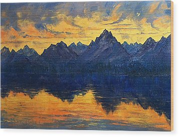 Wood Print featuring the painting Earth Light Series by Len Sodenkamp
