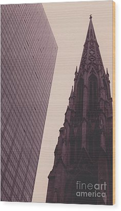 5th Avenue Nyc Old And New Wood Print