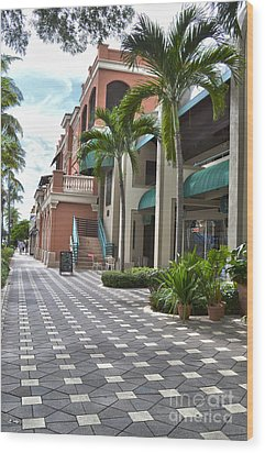 5th Avenue South Naples Florida Wood Print