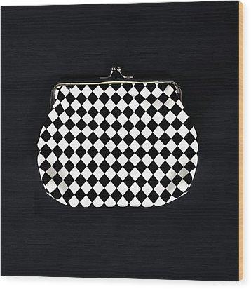 Black And White Wood Print by Joana Kruse