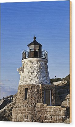 Castle Hill Lighthouse Wood Print by John Greim
