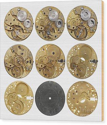 Clockwork Mechanism Wood Print by Michal Boubin