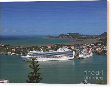 Wood Print featuring the photograph Cruise Ship In Port by Gary Wonning