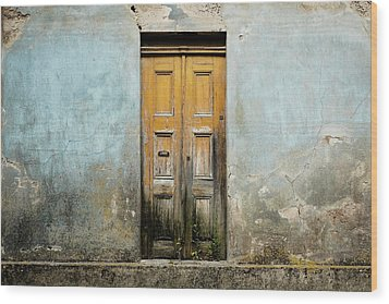 Wood Print featuring the photograph Door With No Number by Marco Oliveira