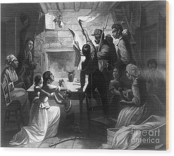 Emancipation Proclamation Wood Print by Granger