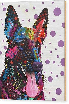 German Shepherd Wood Print by Dean Russo