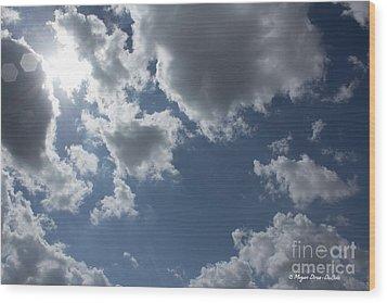 Wood Print featuring the photograph 6-gon Boken Sky by Megan Dirsa-DuBois