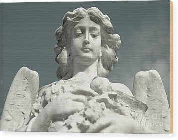Wood Print featuring the photograph Grieving Angel by Yurix Sardinelly
