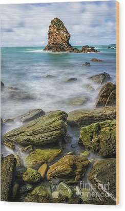 Wood Print featuring the photograph Gwenfaens Pillar by Ian Mitchell