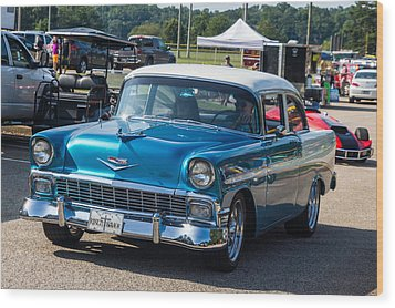 Hall County Sheriffs Office Show And Shine Car Show Wood Print by Michael Sussman