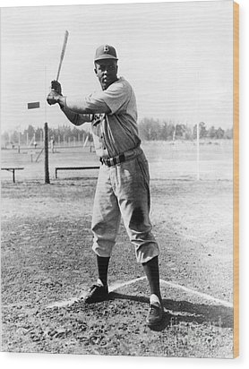 Jackie Robinson (1919-1972) Wood Print by Granger