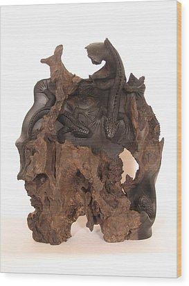 Lizards Wood Print by Thu Nguyen