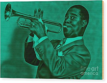 Louis Armstrong Collection Wood Print