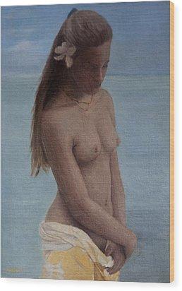 Modesty Wood Print