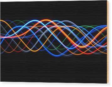 Moving Lights, Abstract Image Wood Print by Lawrence Lawry