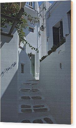 Mykonos Greece Wood Print by Cendrine Marrouat