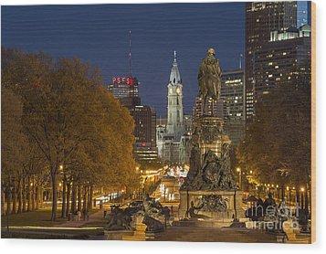 Philadelphia Skyline Wood Print by John Greim