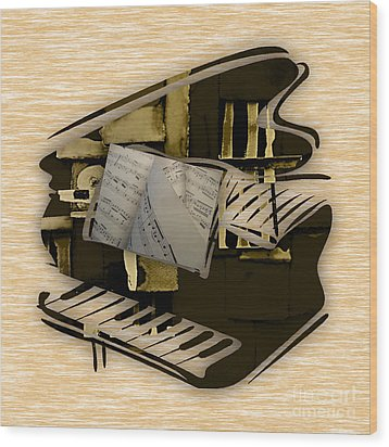 Piano Collection Wood Print