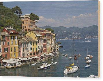 Portofino In The Italian Riviera In Liguria Italy Wood Print