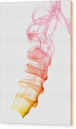 smoke XIX Wood Print by Joerg Lingnau