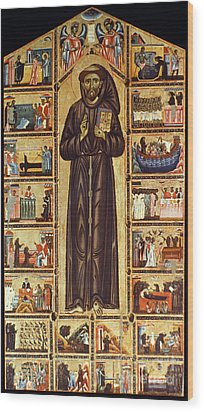 St Francis Of Assisi Wood Print by Granger