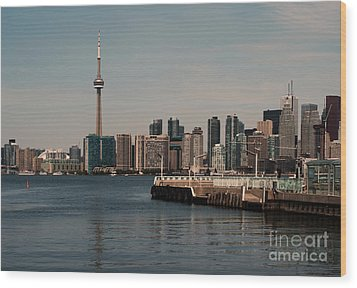 Toronto Skyline Wood Print by Blink Images