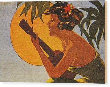 Vintage Hawaiian Art Wood Print by Hawaiian Legacy Archive - Printscapes