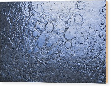 Water Abstraction - Blue Wood Print by Alex Potemkin