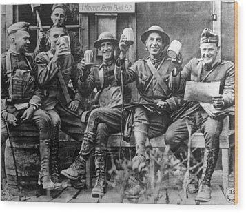 World War I, American Soldiers Wood Print by Everett
