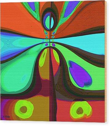 60s Free Love Wood Print