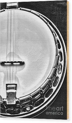 60's Gibson Banjo Wood Print by Micah May