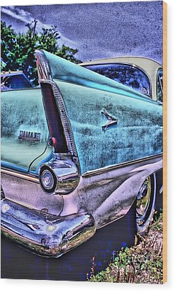 60s Plymouth Wood Print by Corky Willis Atlanta Photography