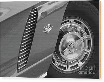 Wood Print featuring the photograph '62 In Black And White by Dennis Hedberg