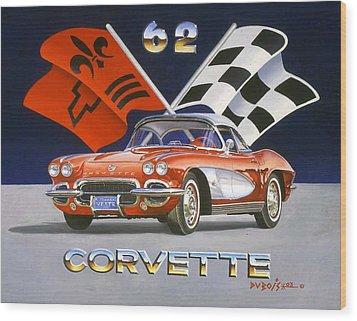62 Vette Wood Print by Howard Dubois