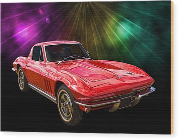 66 Corvette Wood Print