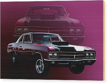 67 Buick Gs 400 Wood Print by Jim  Hatch