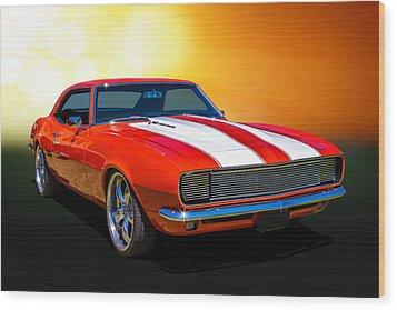 68 Camaro Wood Print by Keith Hawley