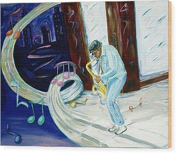 6th Avenue Blues Wood Print by Kevin Callahan