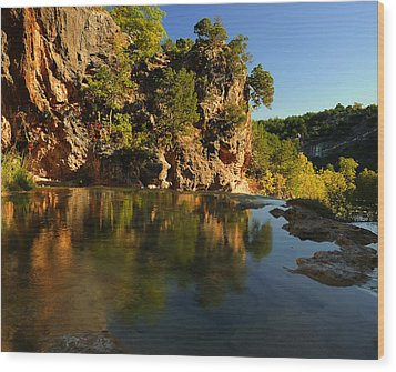 Arbuckle Mountains Wood Print by Iris Greenwell
