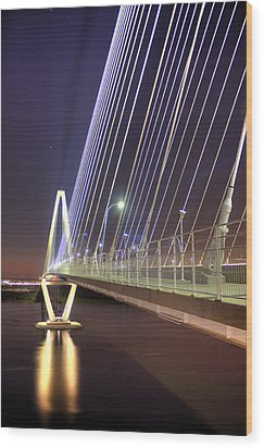 Arthur Ravenel Jr. Bridge  Wood Print by Dustin K Ryan