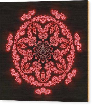 7 Beats Fractal Wood Print by Robert Thalmeier